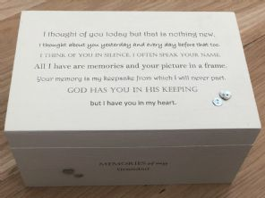 Personalised LARGE Box In Memory Of A Loved One GRANDAD Or Any Name Shabby Chic - 332573296702